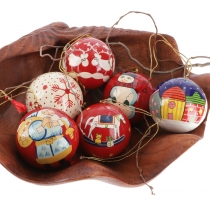 Christmas tree decoration ball, hand-painted Christmas tree balls..