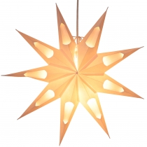 Foldable Advent light paper star, poinsettia 40 cm - Aquarius whi..