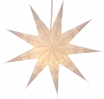 Foldable Advent light paper star, poinsettia 40 cm - Phoenix natu..