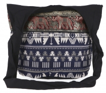Sadhu Bag, shoulder bag, hippie bag Ikat - blue/white pattern