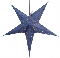 Foldable Advent light paper star, Christmas star 60 cm - Astor bl..