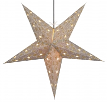 Foldable Advent light paper star, Christmas star 60 cm - Aida