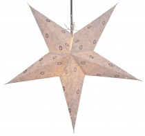 Foldable Advent light paper star, Christmas star 60 cm - Ares