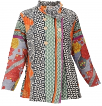 Indian boho patchwork jacket jacket, Upcyceling jacket size M - m..