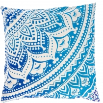 Mandala cushion cover, printed Boho cushion cover - blue