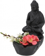 Ashtray with Buddha figure, bowl with sitting Buddha