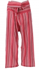 Thai fisherman pants from striped woven fine cotton, wrap pants, ..