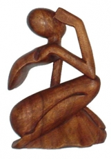 wooden figure, statue, decoration object Feng Shui - `thinker