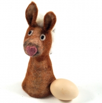 Felt egg warmer - Donkey