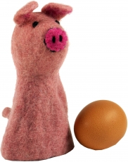 Felt egg warmer - Piggy