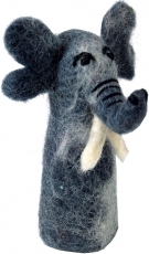 Handmade finger puppet made of felt - Elephant