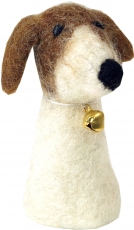 Handmade finger puppet made of felt - dog