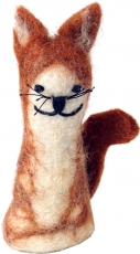 Handmade finger puppet made of felt - Cat