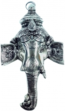 Ganesha mask made of white metal - Design 1