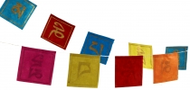 Prayer flag made of paper mantra