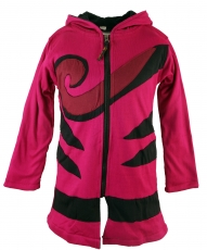 Goa children`s jacket with pointed hood, elfin jacket spiral - pi..
