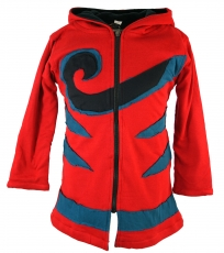 Goa children`s jacket with pointed hood, elfin jacket spiral - re..