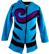 Goa children`s jacket with pointed hood, elfin jacket spiral - tu..