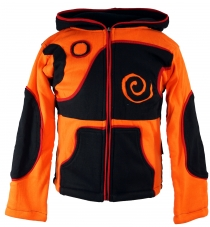 Goa children`s jacket with pointed hood - orange