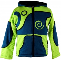 Goa children`s jacket with pointed hood - petrol