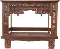 Historical four-poster bed, teak day bed - model 6