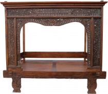 Historic four-poster bed, teak daybed - Model 8