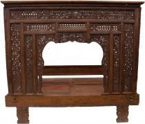 Historical four-poster bed, teak day bed - model 12