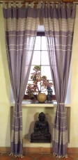 Curtain, curtain of coarsely woven soft cotton (1 pair of curtain..