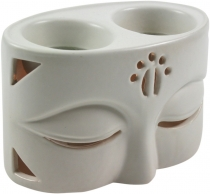 Ceramic fragrance lamp - Buddha 2 white