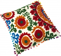 Cushion cover with ethno pattern, embroidered folklore cushion - ..