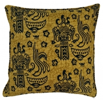 cushion cover wax batik - mustard