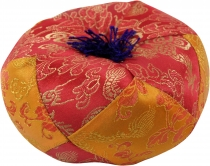 Singing bowl pillow - red/orange