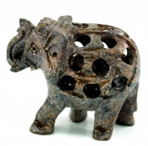 Small soapstone elephant from India