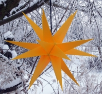 LED Melchior Outdoor II yellow, 3D outdoor star Ø 60 cm, with 20 ..
