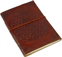 Leather book, notebook, diary, writing book with leather cover - ..