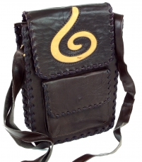 Boho Leather Shoulder Bag - Spiral