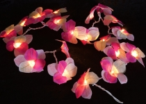 Lotus LED Lichterkette 20 Stk. - Hawai/lila