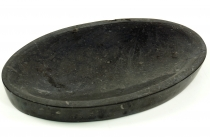 Marble soap dish, Zen dish for the washstand - black