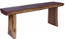 Solid table, sideboard from tree trunk