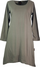 Maxi tunic, mini dress, tail tunic in plus size form plain - mush..
