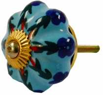 Furniture Knob Rose Ceramic