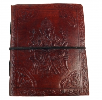 Notebook, leather book, diary - Ganesha 12*15 cm