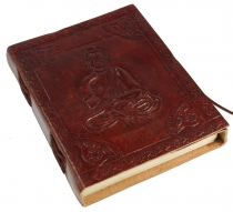 Notebook, leather book, diary with leather cover - Budha 12*15 cm