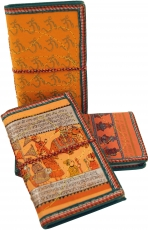 NotebookDiary with indian motive - orange