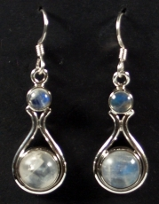 Earrings with semi-precious stones 14