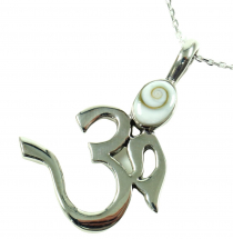 OM pendant, silver pendant with Shiva shell 9