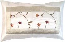 Oriental brocade cushion cover 70*45 cm - white