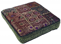 Oriental square patchwork cushion 50 cm, seat cushion, floor cush..