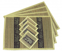 Placemat Bast Coaster Table Mat 4èr Set - cream