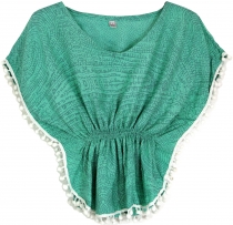 Poncho, girl`s blouse, tunic - mint